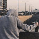 einsamer verzweifelter Mann, Trinker