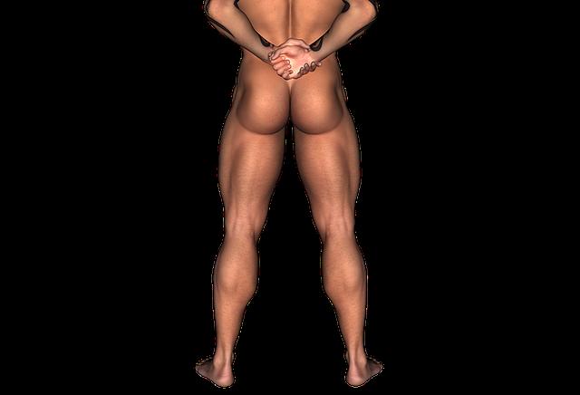 Er kann nur kommen, wenn er seine Muskeln von Bauch bis Fuß anspannt