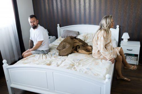Im Bett läuft nichts mehr, weil er nicht kann oder nicht will...