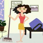 Ist sie nur Putzfrau, Dienstmaedchen, Haushaelterin?